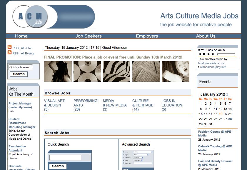 Arts Culture Media Jobs
