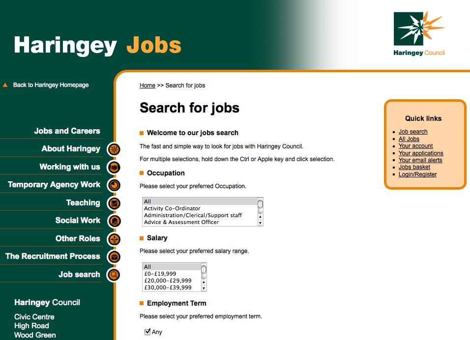 Haringey Jobs