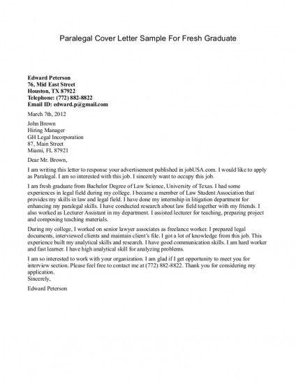 sample cover letter sample cover letter college graduate