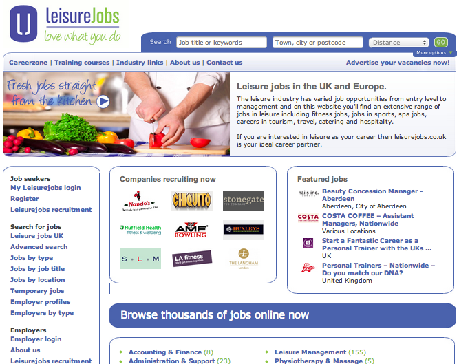 Leisurejobs