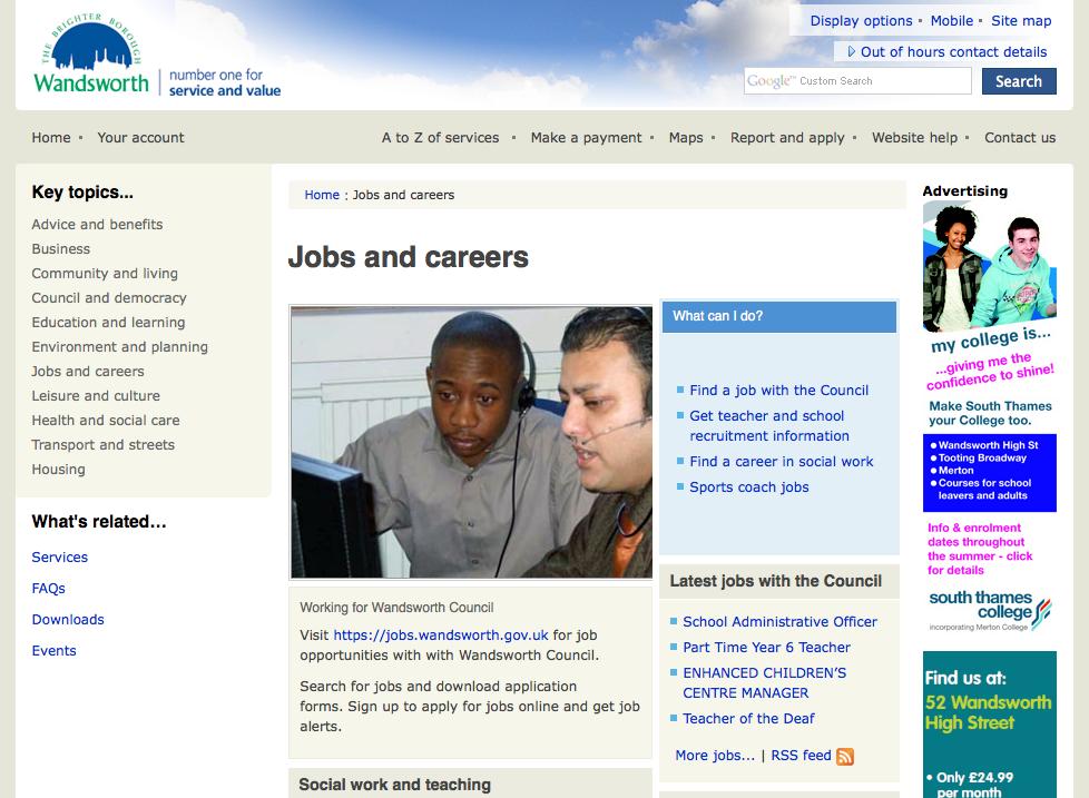 Wandsworth Council Jobs