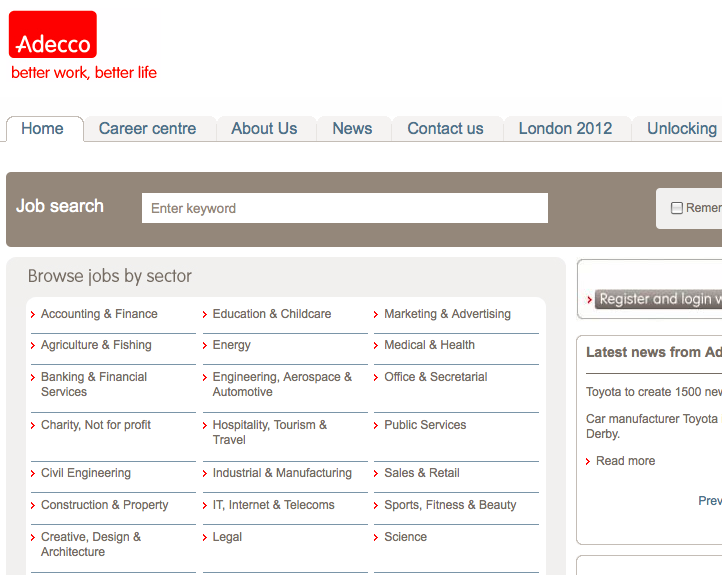 Adecco Jobs UK review