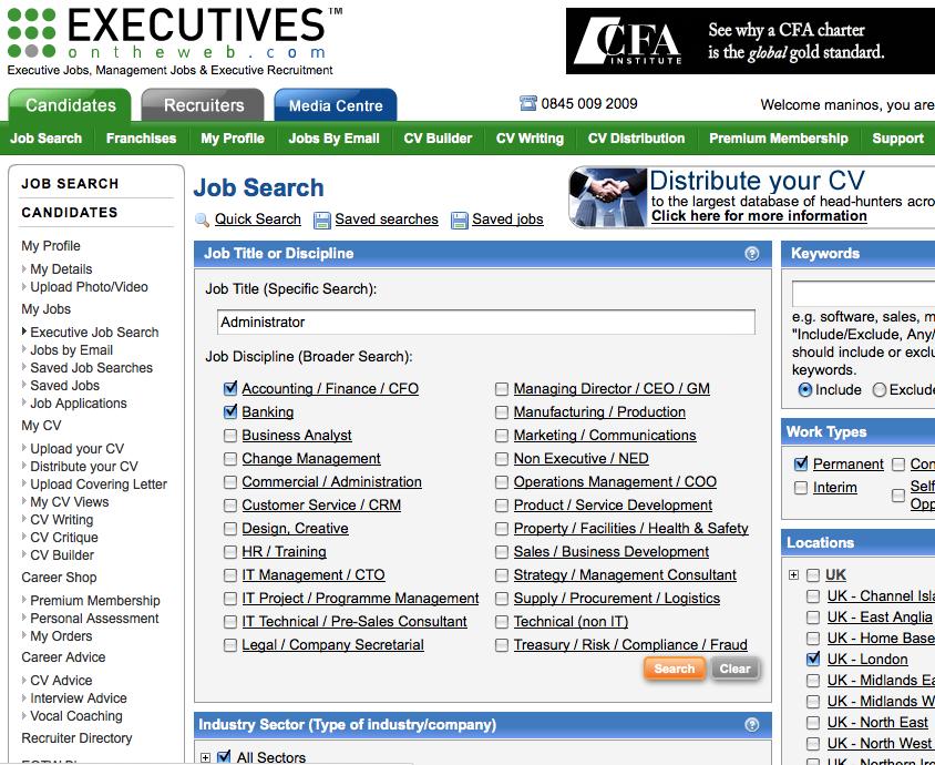 Executives on the web