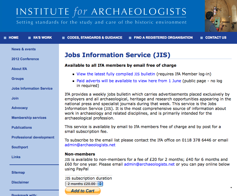Institute for Archaeologists