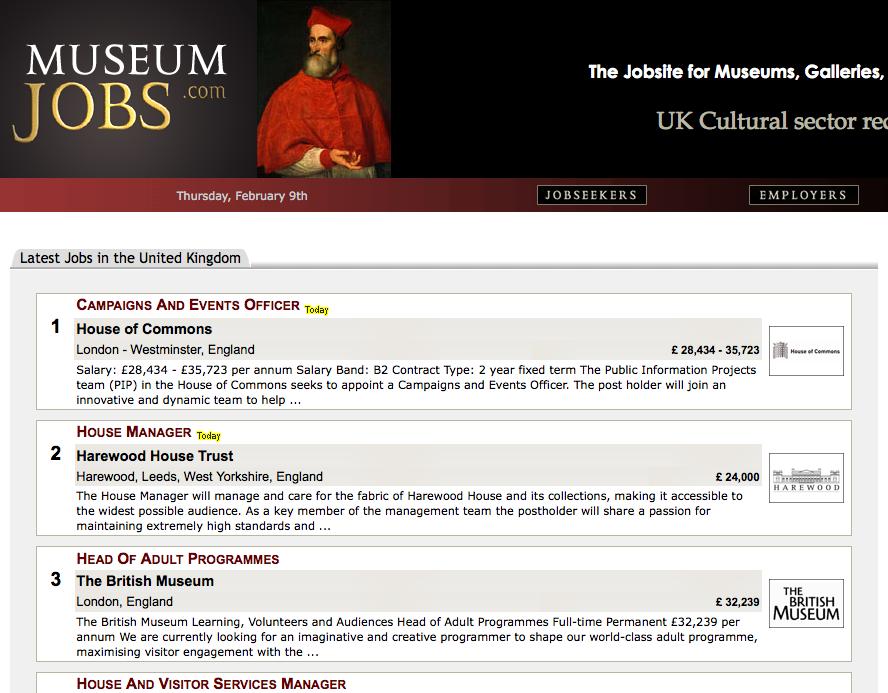 Museumjobs