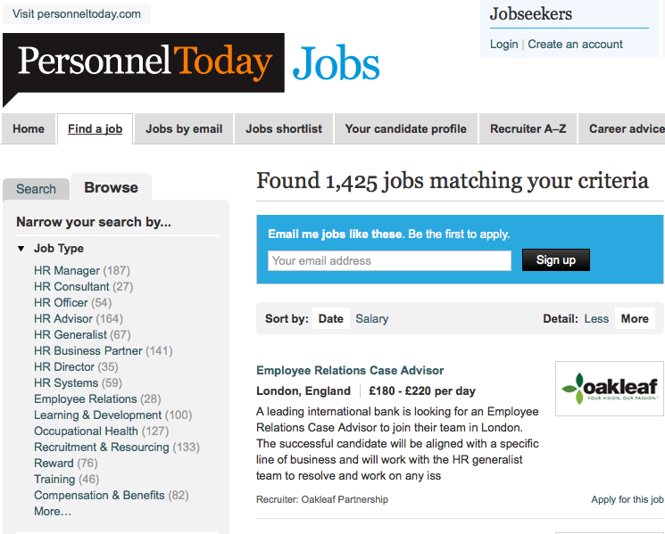 Personnel Today Jobs