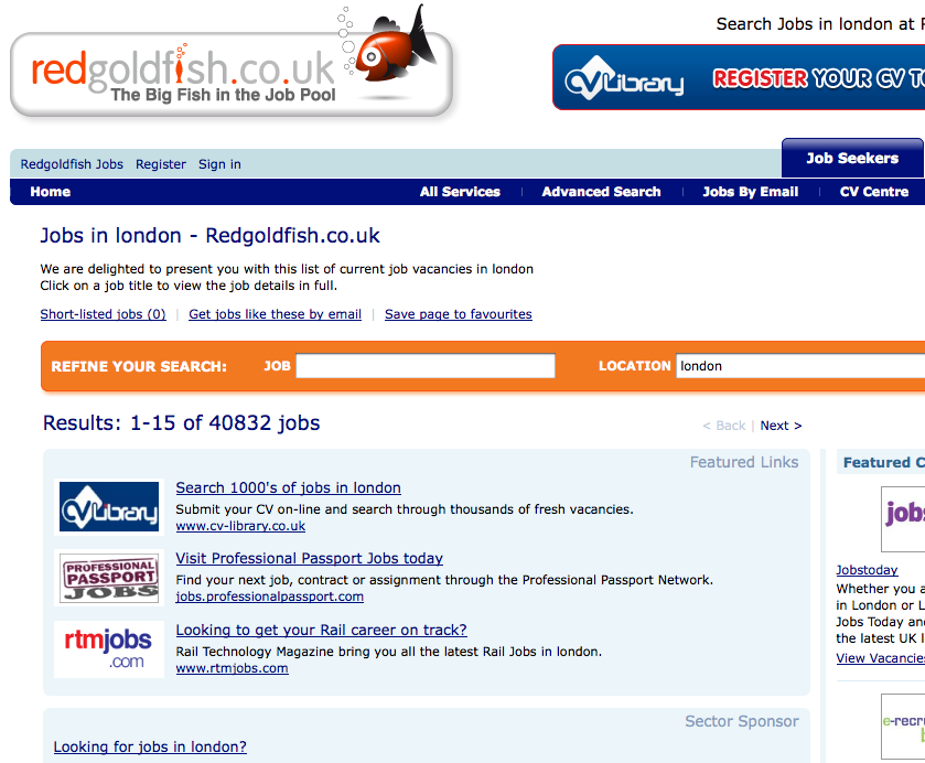 redgoldfish co uk - uk job boards