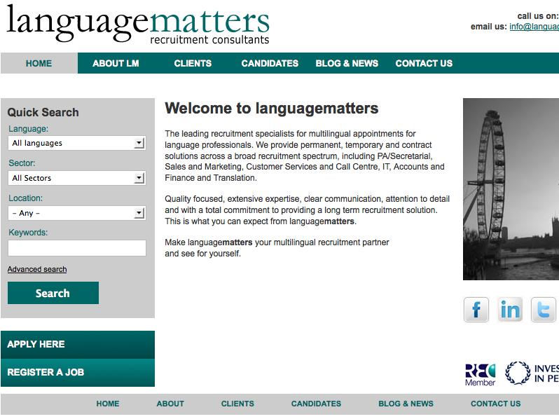 Languagematters recruitment consultants