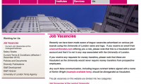 University of London Careers