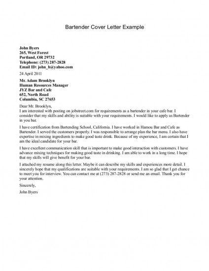 Cover Letter Tips  Broke In London
