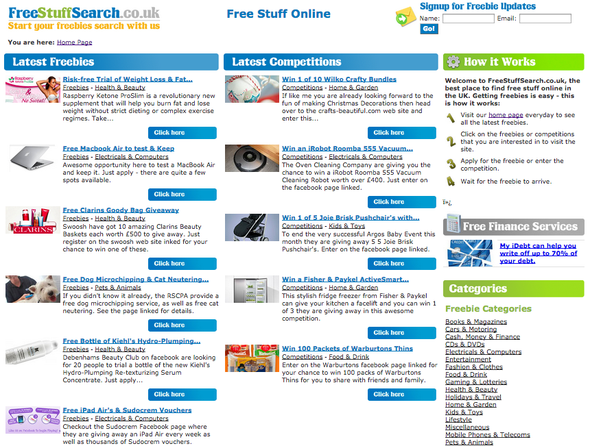 Free Stuff Search Review