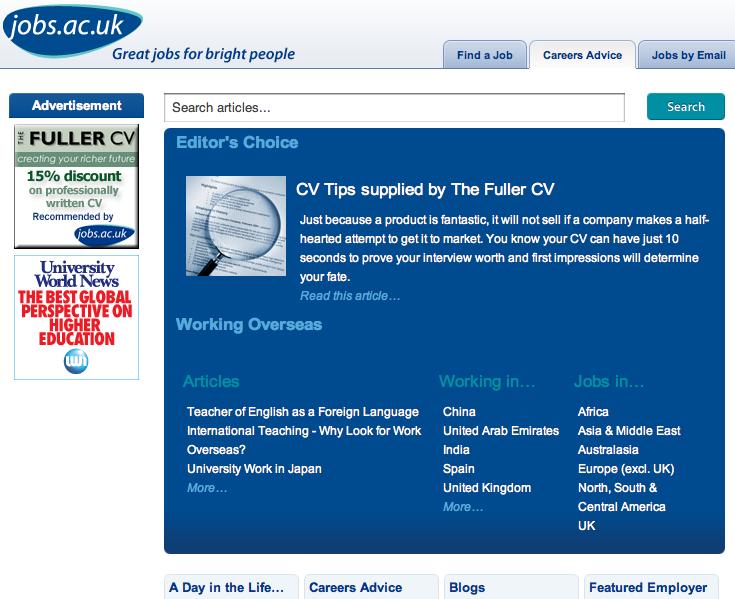 Jobs Ac UK Careers Advice