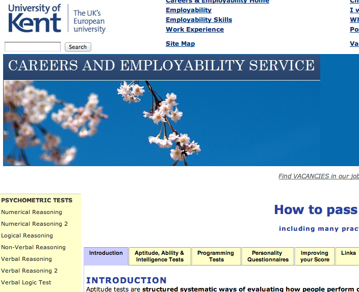 university of kent careers