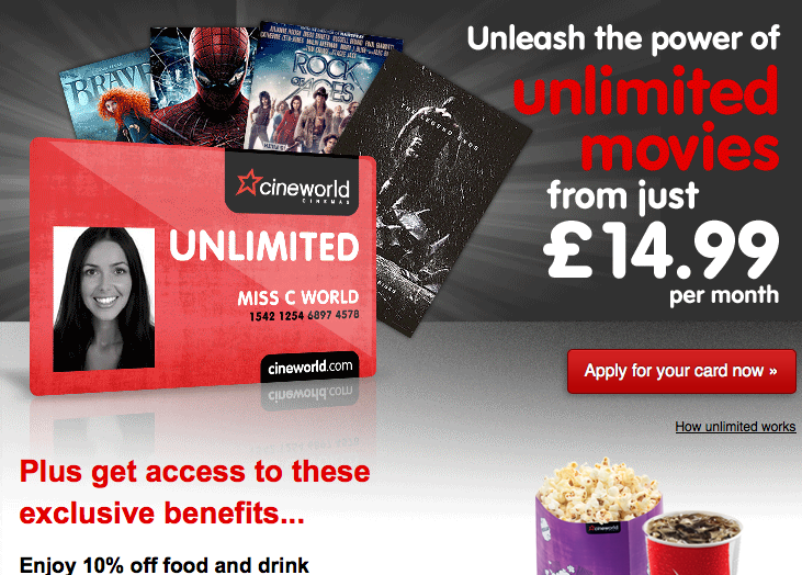 how to cancel cineworld unlimited card