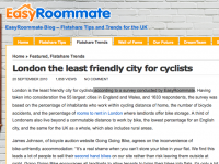 Easyroommate's article about cycling in London