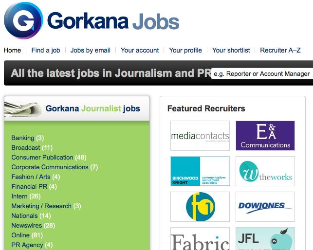 Gorkana Jobs