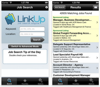 LinkUp job app - Best job search apps