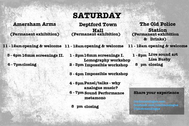 London Analogue Festival programme