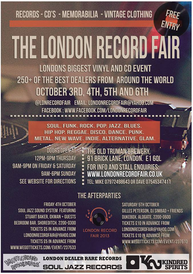 The London Record Fair 2013