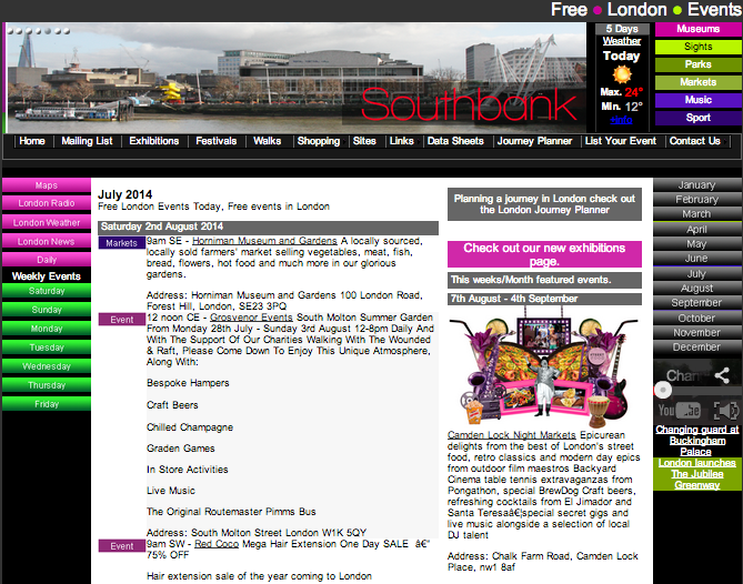 Free London Events UK