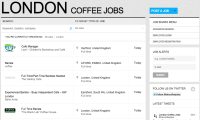London Coffee Jobs Board