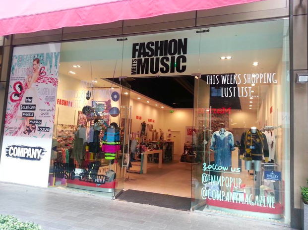 Fashion Meets Music Pop Up Shop
