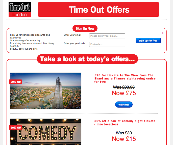 Time Out London Offers