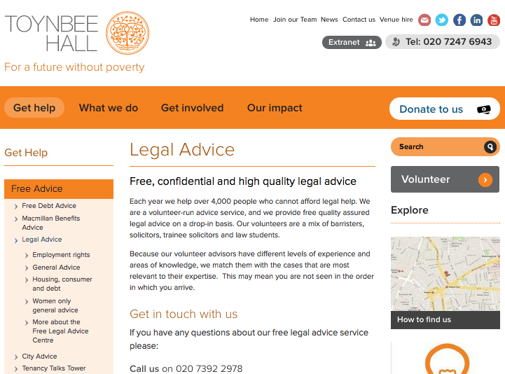Toynbee Hall Free Legal Advice Review