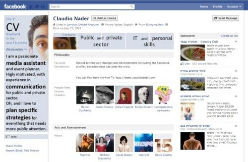 How to make your own Facebook CV