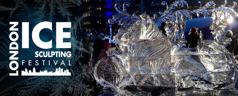 Free Events in London January - The London Ice Sculpting Festival