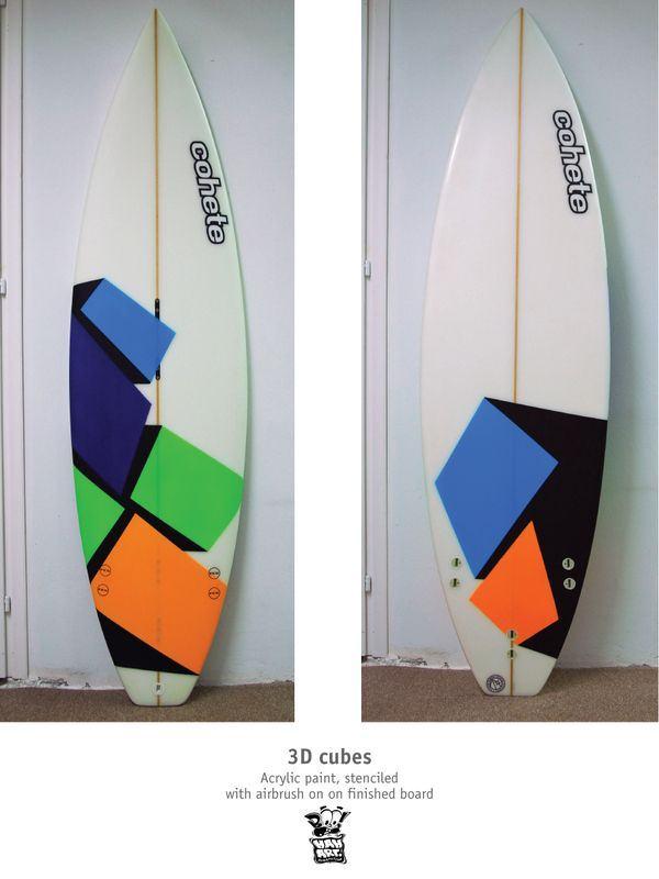 Boohaha's artwork for Cohete Surfboards