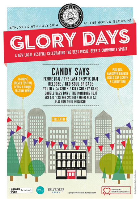 Glory days Music Festival flyer