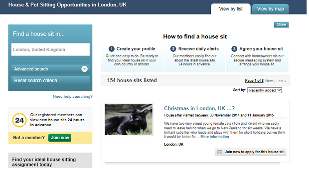 Free Accommodation in London- House Sitting