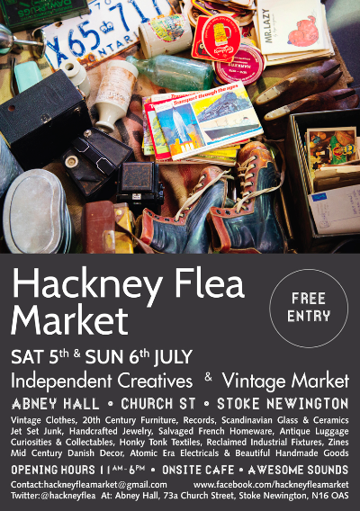 Hackney Flea Market July 2014 Poster
