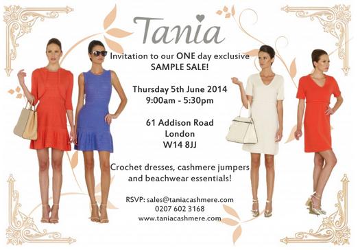 Sample Sales in London June 2014 - Tania