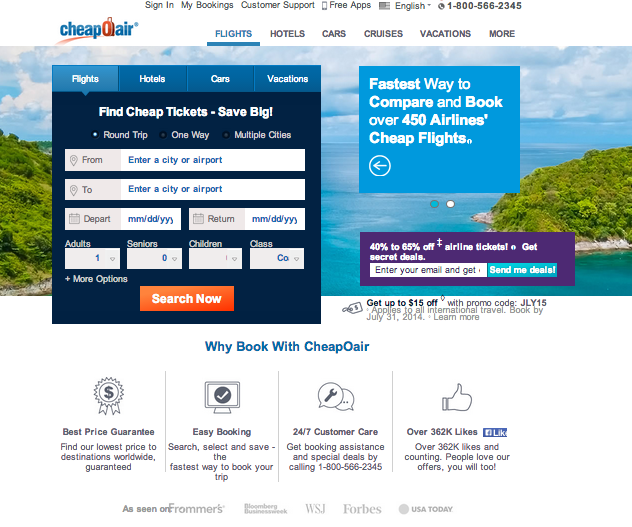 Cheapoair.com - Cheap flights