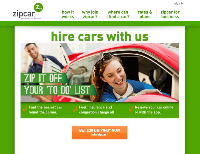 Zipcar discount coupons