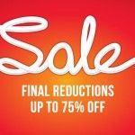 Schuh sale 75% off