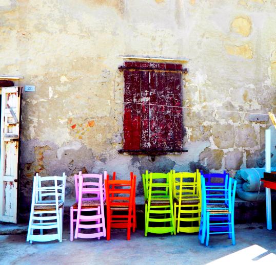 Chairs in Marzamemi