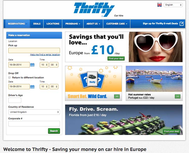 Thrifty Car Rental UK