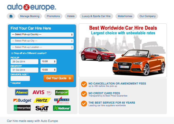 Auto Europe Rent Car Review