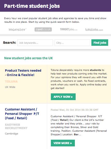The Best UK Student Job Websites