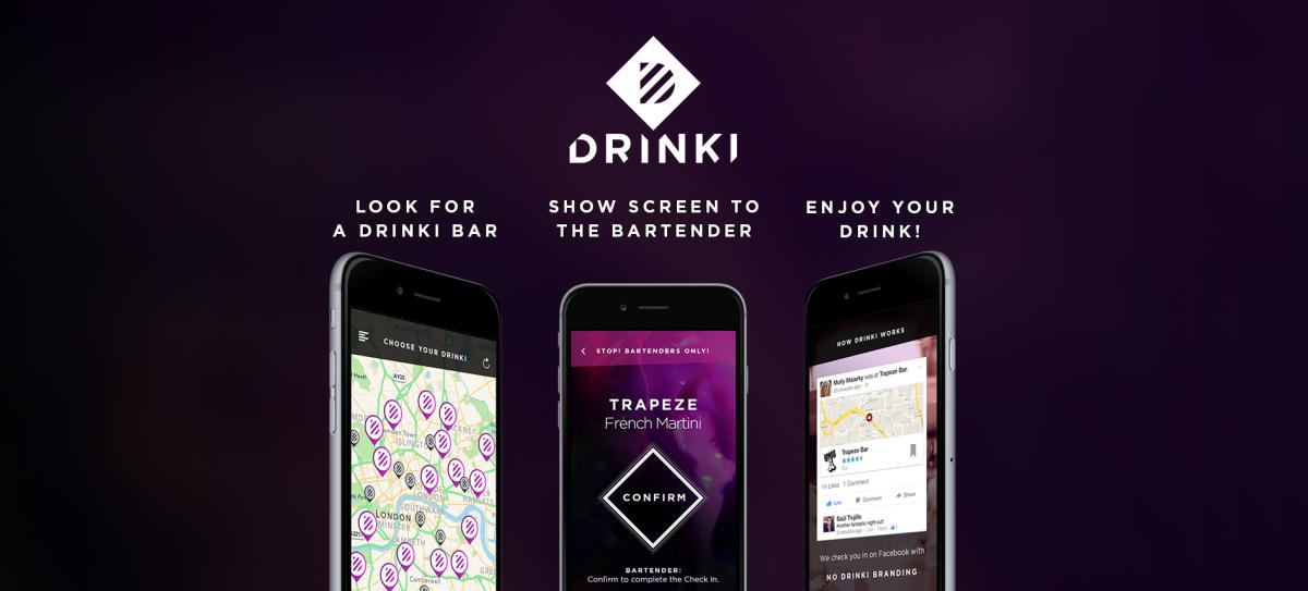 Drinki App Gives FREE cocktails for a Facebook Check-in