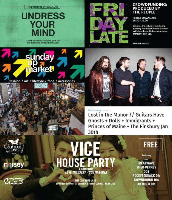 Top 5 Free events in London this weekend 20 February - 1 January 2015