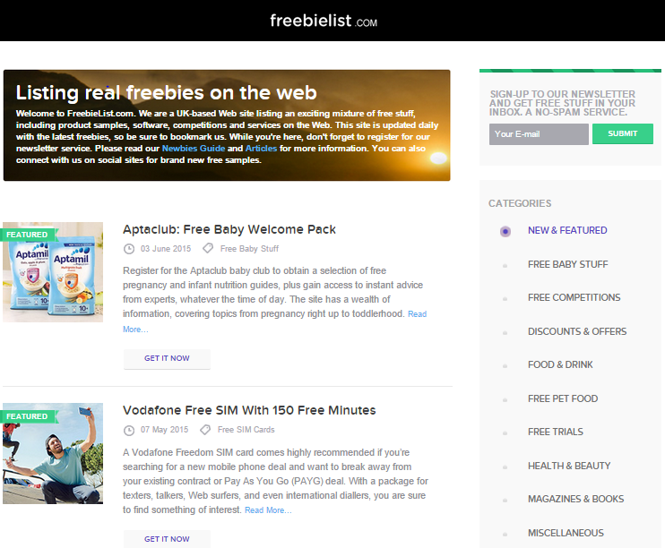 Freebielist.com Review