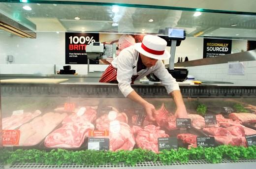 Sainsbury's Meat Section