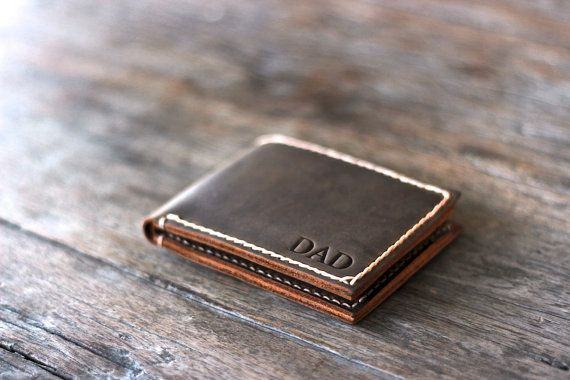 Personalised Father's Day Leather Wallet