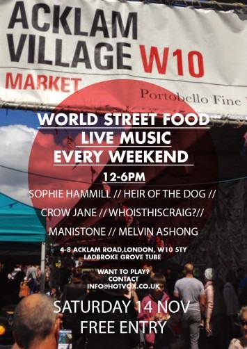 Free Live Music at the Acklam Village Market