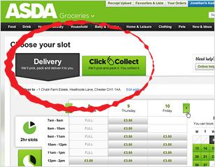 Buying Groceries online at Asda