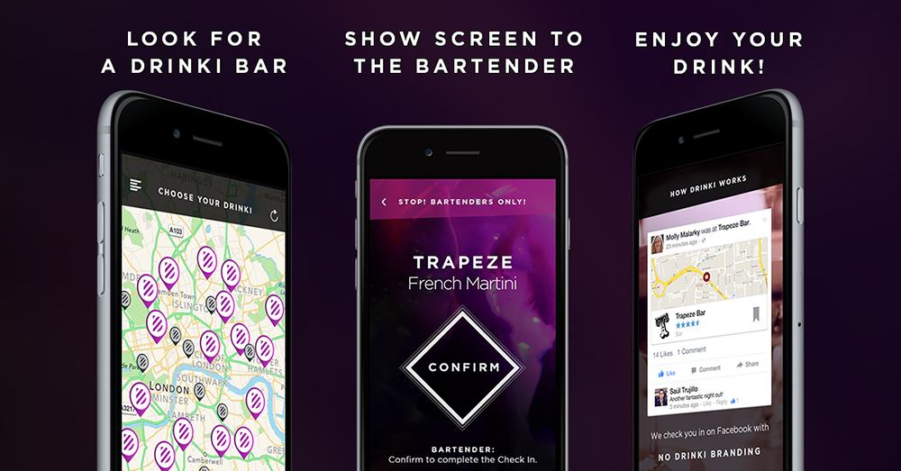 Drinki App to get free drinks in London
